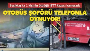 Beşiktaş'taki otobüs kazası kamerada... Otobüs şoförünün yaptığı pes dedirtti!