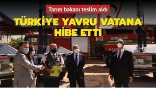 Türkiye yavru vatana hibe etti... Tarım Bakanı teslim aldı