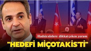 Dikkat çeken yorum: Dendias'ın hedefi Miçotakis'ti