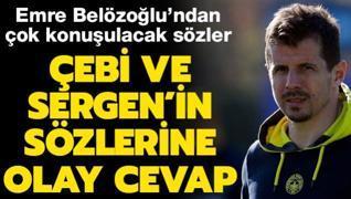 Ahmet Nur Çebi ve Sergen'in sözlerine olay cevap!