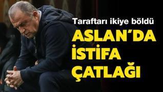 Galatasaray'da istifa çatlağı