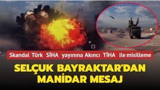 Rusya'nın skandal 'Türk SİHA' yayınına 'Akıncı TİHA' ile karşılık verildi: Selçuk Bayraktar'dan manidar mesaj