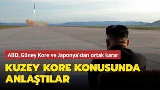 ABD, Güney Kore ve Japonya'dan ortak karar