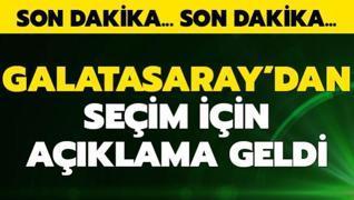 Galatasaray'dan seçim tarihiyle ilgili açıklama geldi