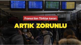 Fransa, Türkiye'yi 'zorunlu karantina' listesine ekledi