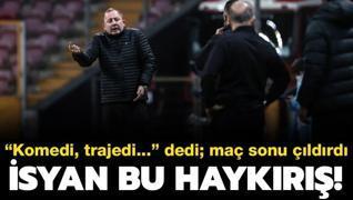 Sergen Yalçın'dan hakem tepkisi: Komedi, trajedi