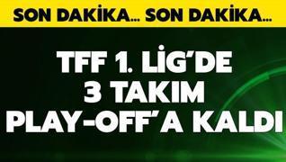 TFF 1. Lig'de play-off'a kalan 3 takım belli oldu