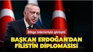 Başkan Erdoğan'dan Filistin diplomasisi... Bölge liderleriyle görüştü