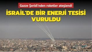 Gazze Şeridi'nden atıldı... İsrail'de bir enerji tesisi vuruldu