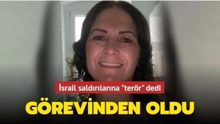 İsrail saldırılarına 'terör' dediği için Türk siyasetçi görevinden oldu