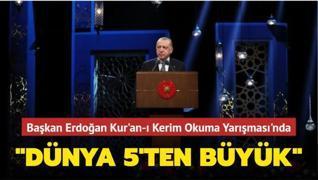 Başkan Erdoğan Kur'an-ı Kerim'i Güzel Okuma Yarışması Final Programı'nda konuştu