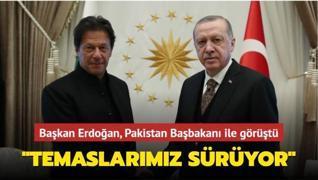 Başkan Erdoğan Pakistan Başbakanı İmran Han ile görüştü