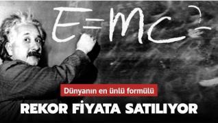 Einstein'ın 'E=mc²'li' mektubu satışa çıkıyor: Rekor fiyat