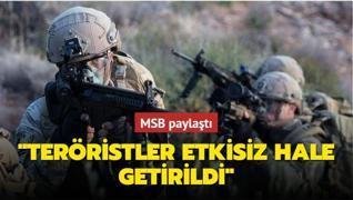 MSB paylaştı: 'Askerimizi şehit eden teröristler etkisiz hale getirildi'