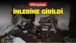 'Pençe' operasyonunda PKK'lı teröristlerin kullandığı 14 odalı mağara ele geçirildi