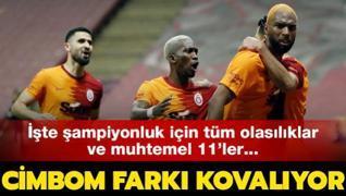 Galatasaray farkı kovalıyor! İşte muhtemel 11'ler...