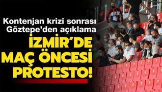 Göztepe-Beşiktaş maçı öncesi flaş protesto