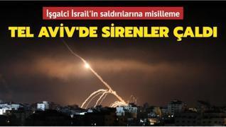 İşgalci İsrail'in saldırılarına misilleme... Tel Aviv'de sirenler çaldı