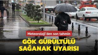 Marmara Bölgesi'ne gök gürültülü sağanak uyarısı