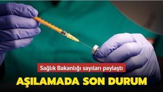 Sağlık Bakanlığı sayıları paylaştı... Aşılamada son durum