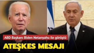ABD Başkanı Biden Netanyahu ile görüştü