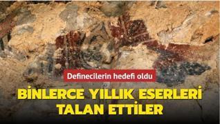 Defineciler Zonguldak'ta binlerce yıllık mağaradaki duvar resimlerini talan etti