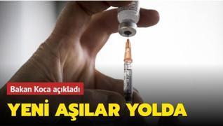 Bakan Koca açıkladı: Yeni aşılar yolda!