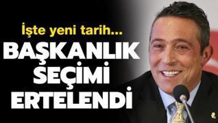 Fenerbahçe'de başkanlık seçimi ertelendi! İşte yeni tarih...