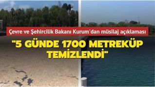 Çevre ve Şehircilik Bakanı Kurum'dan müsilaj açıklaması: '5 günde 1700 metreküp temizlendi'