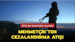 Mehmetçik Afrin'e saldıran terör hedeflerini vurdu