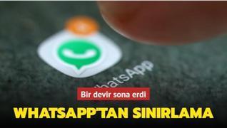 WhatsApp mesaj iletme hakkını beşe indirdi
