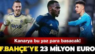 Fenerbahçe'ye 23 milyon euro transfer geliri