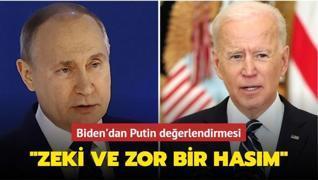Biden'dan Putin değerlendirmesi: 'Zeki ve zor bir hasım'