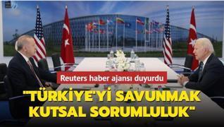 Reuters haber ajansı duyurdu: Türkiye, Avrupa ve Kanada'yı savunmak kutsal sorumluluk