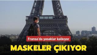 Fransa'da maske ve sokağa çıkma yasağı kaldırılıyor