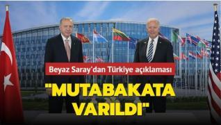 Beyaz Saray'dan Başkan Erdoğan-Biden görüşmesine dair açıklama: 'Mutabakata varıldı'