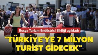 Rusya Turizm Endüstrisi Birliği açıkladı: 'Türkiye'ye 7 milyon turist gidecek'