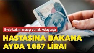 Engelli akrabasına evde bakana ayda 1.657 lira