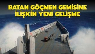 MSB'den batan göçmen gemisine ilişkin açıklama