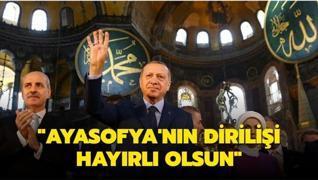 Başkan Erdoğan'dan 'Ayasofya'nın Dirilişi' paylaşımı
