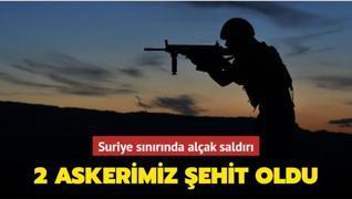 Fırat Kalkanı bölgesindeki terör saldırısında 2 askerimiz şehit oldu