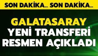 Galatasaray yeni transferini resmen açıkladı