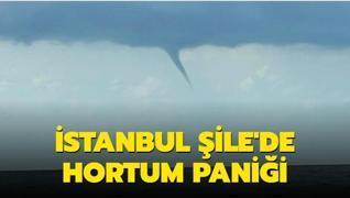 İstanbul Şile'deki hortum kameralara yansıdı