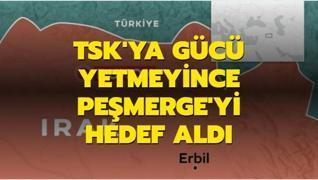 TSK'ya gücü yetmeyen PKK yine Peşmerge'yi hedef aldı