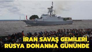 İran savaş gemileri, Rusya Donanma Günü'nde