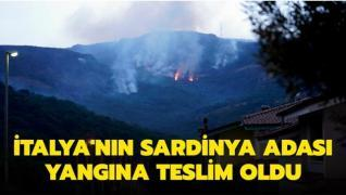 İtalya'nın Sardinya Adası yangına teslim oldu