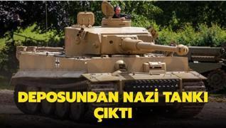 Deposunda Nazi döneminden tank çıktı