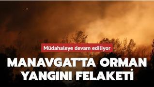 Manavgat'ta orman yangını felaketi... Müdahale sürüyor