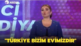 Azeri spikerin 'Türkiye' sözleri tüyleri diken diken etti