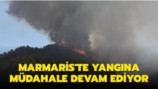 Marmaris'te yangına müdahale devam ediyor